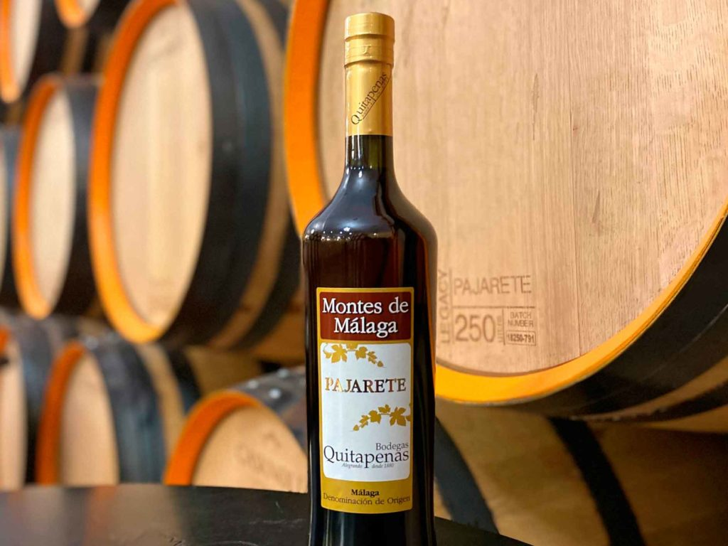 Botella de vino Pajarete