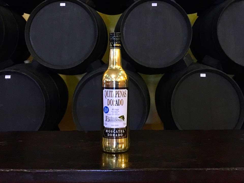 Botella de Quitapenas Dorado