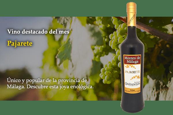 Pajarete vino del mes
